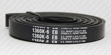 136 in 6 groove serpentine belt