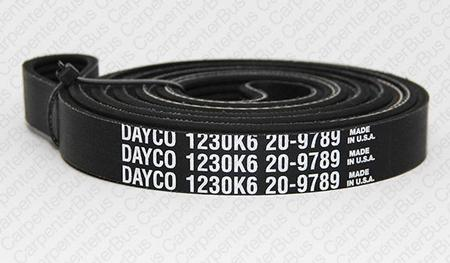 6 in groove serpentine belt 2