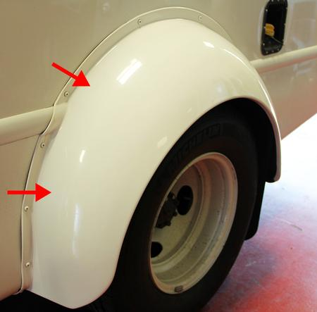 fender flare, narrow body