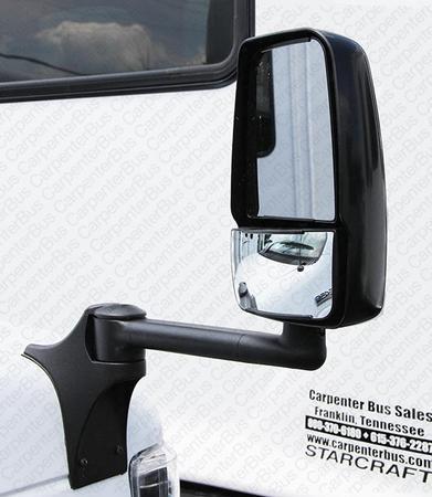 passenger side fender mount power mirror assembly