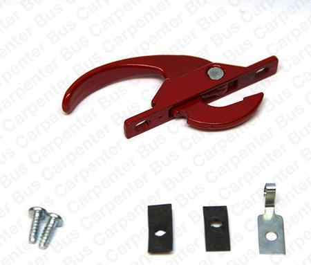 red egress handle with clips