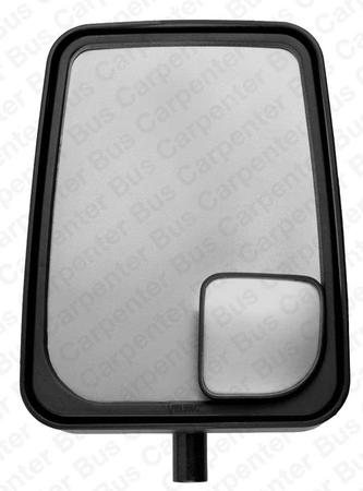 velvac mirror, head only, black manual adjust