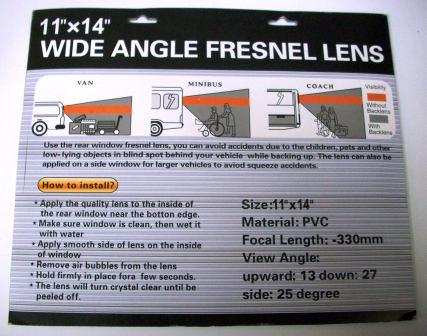 wide angle fresnel lens