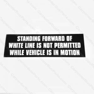 13-003-005 DECAL STANDEE WHITE LINE