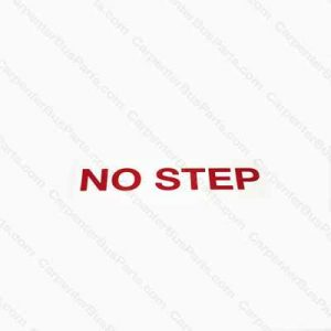 50009017 NO STEP DECAL