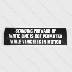STANDEE LINE SIGN WHITE