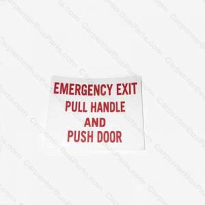 BI060545 DECAL DOOR EMERGENCY EXIT