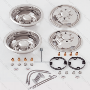 GDG01M SET 16 INCH CHEVY DUAL REAR WHEEL WITH VALVE EXTENSIONS