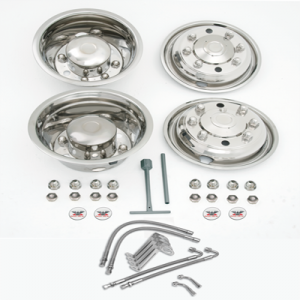 NH8494M SET WHEEL COVERS 19.5 WITH REAR VALVE EXTENSIONS