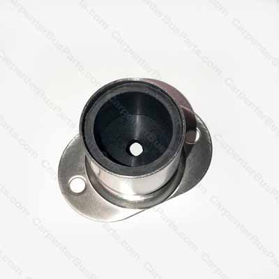 TL500 STAINLESS CUP FITTING WITH MOUNTING FLANGE AND RUBBER INSERT
